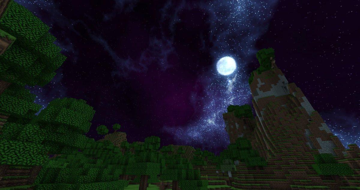 Dokucraft Light : La lune pendant la nuit