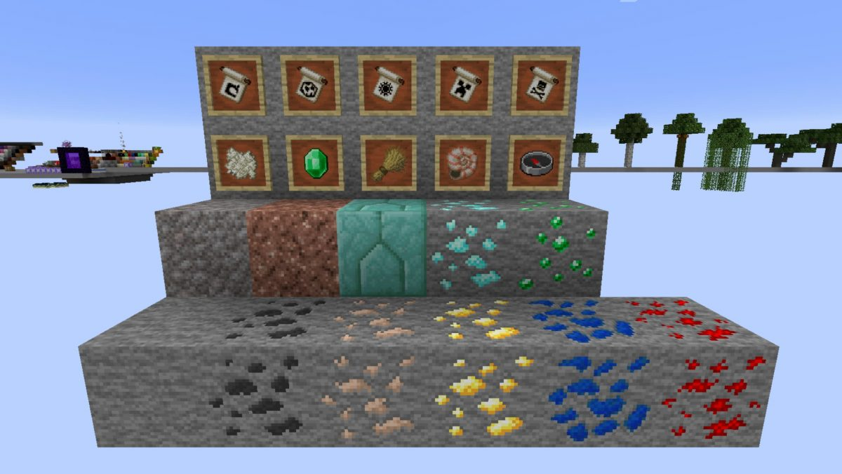 Faithful Minecraft : différents minerais
