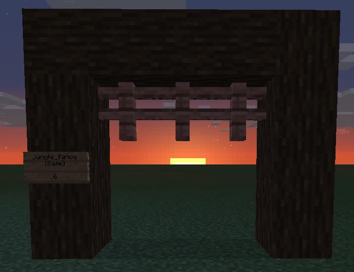 Craftbook, portail créé grâce à des barrières.