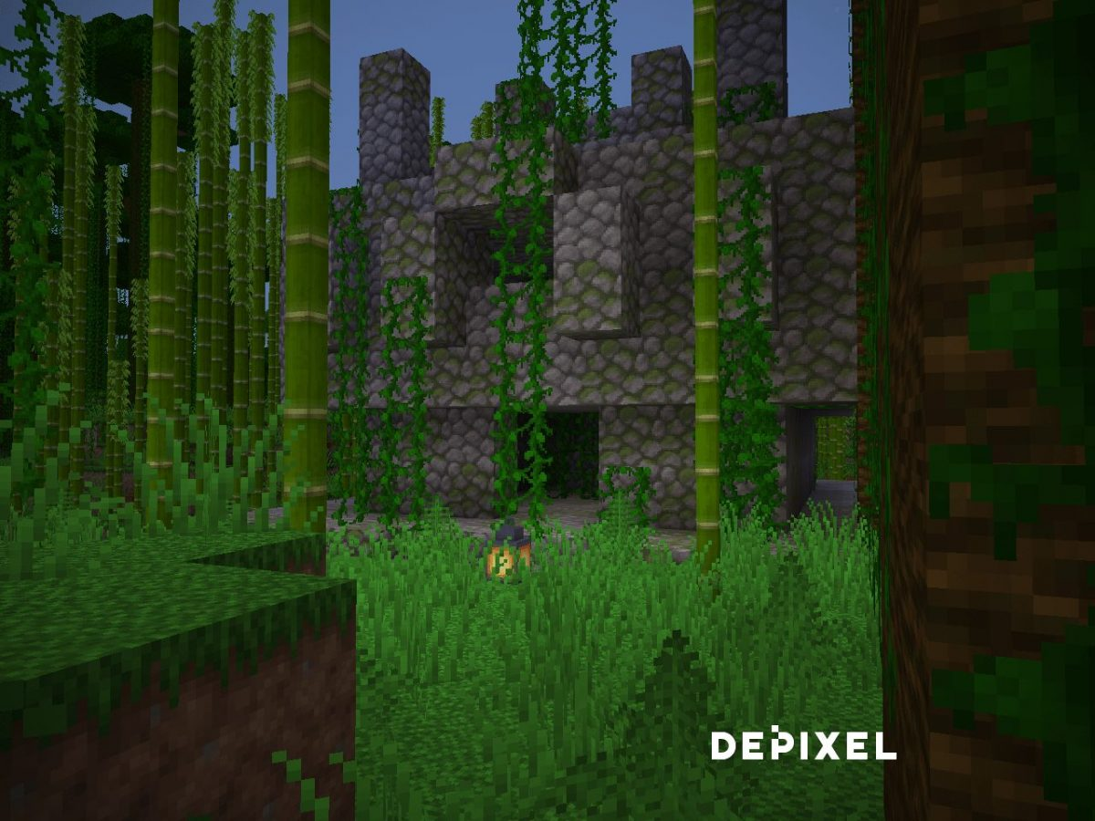 Depixel, pack de textures Minecraft : du bambou