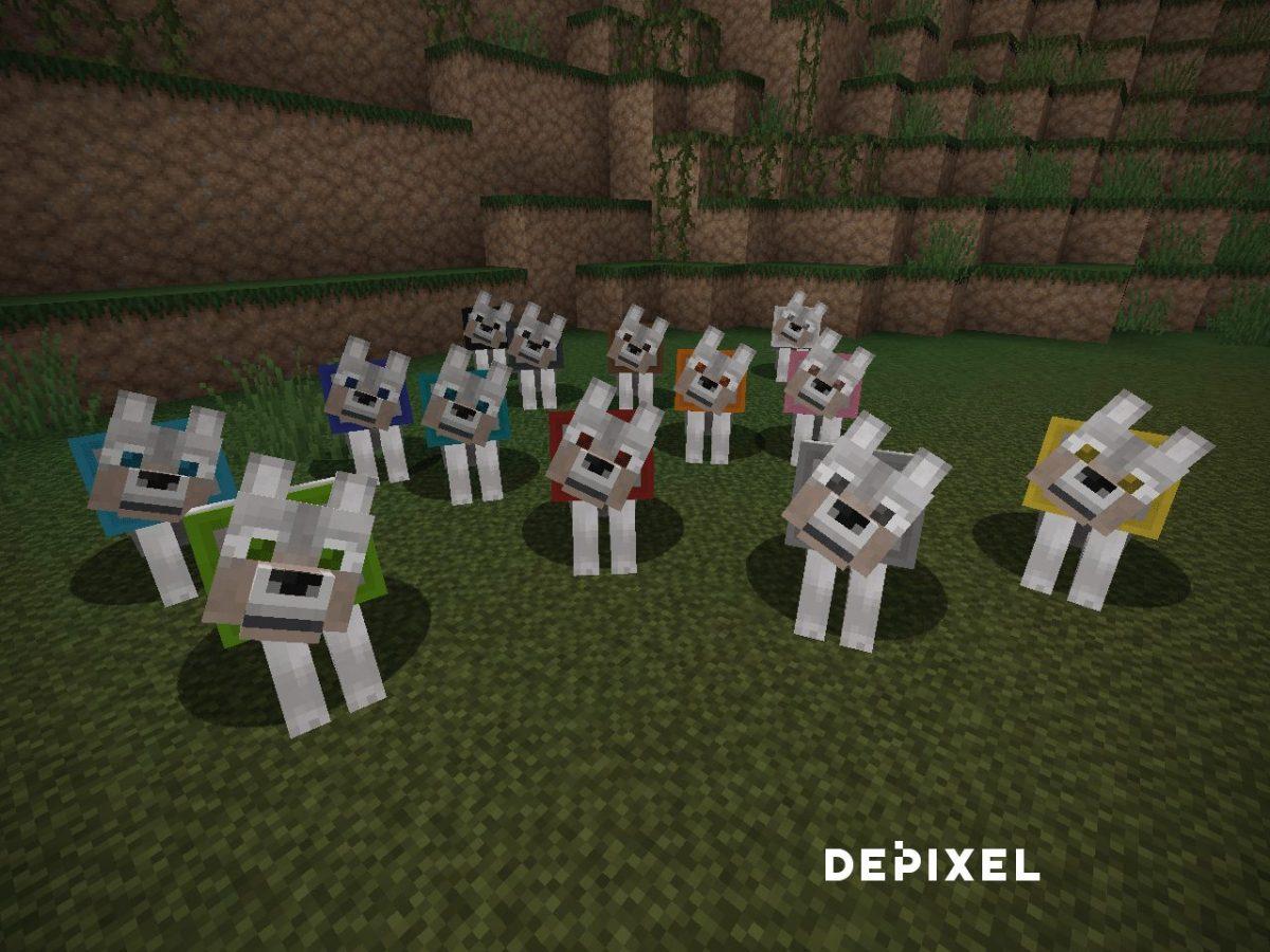 Depixel, pack de textures Minecraft : une meute de chien