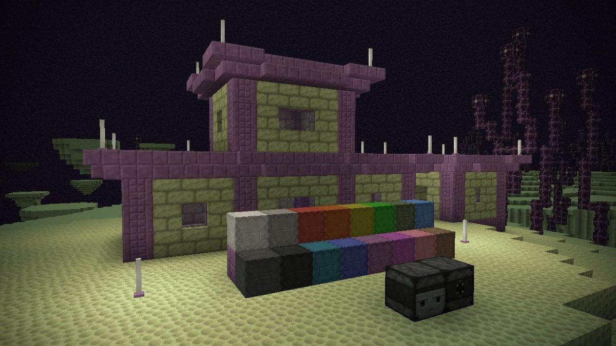 Depixel, pack de textures Minecraft : dans l'End