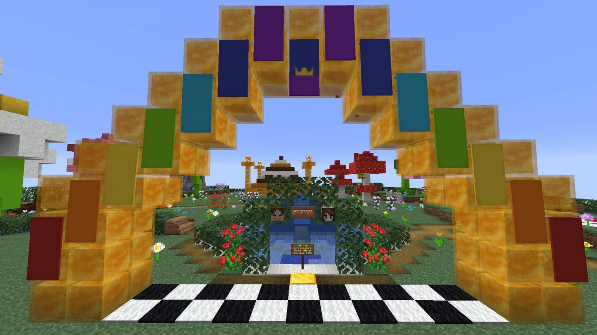Honey Jump Map Minecraft : l'arrivée de la course