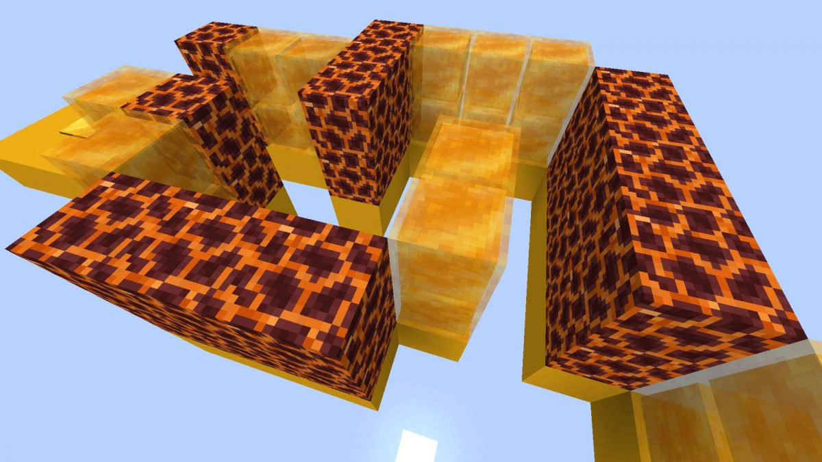 Honey Jump Map Minecraft : le labyrinthe