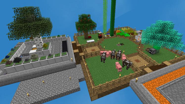 Skyfactory 4 : aperçu d'un terrain