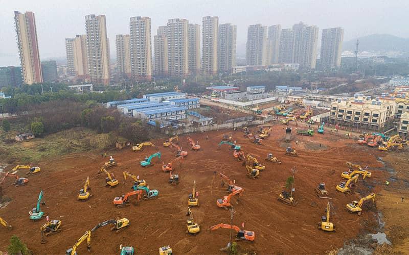 Le chantier des hôpitaux dans la vraie vie. Source : WSJ.com