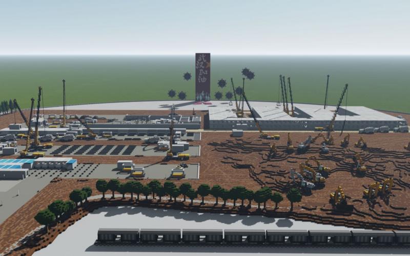 Le créateur June-Fu a recréé le processus de construction de deux centres médicaux en un peu plus d'une semaine.
