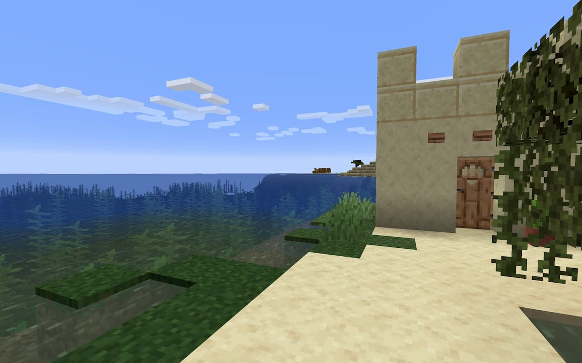 Seed Minecraft 1.15 desert épave