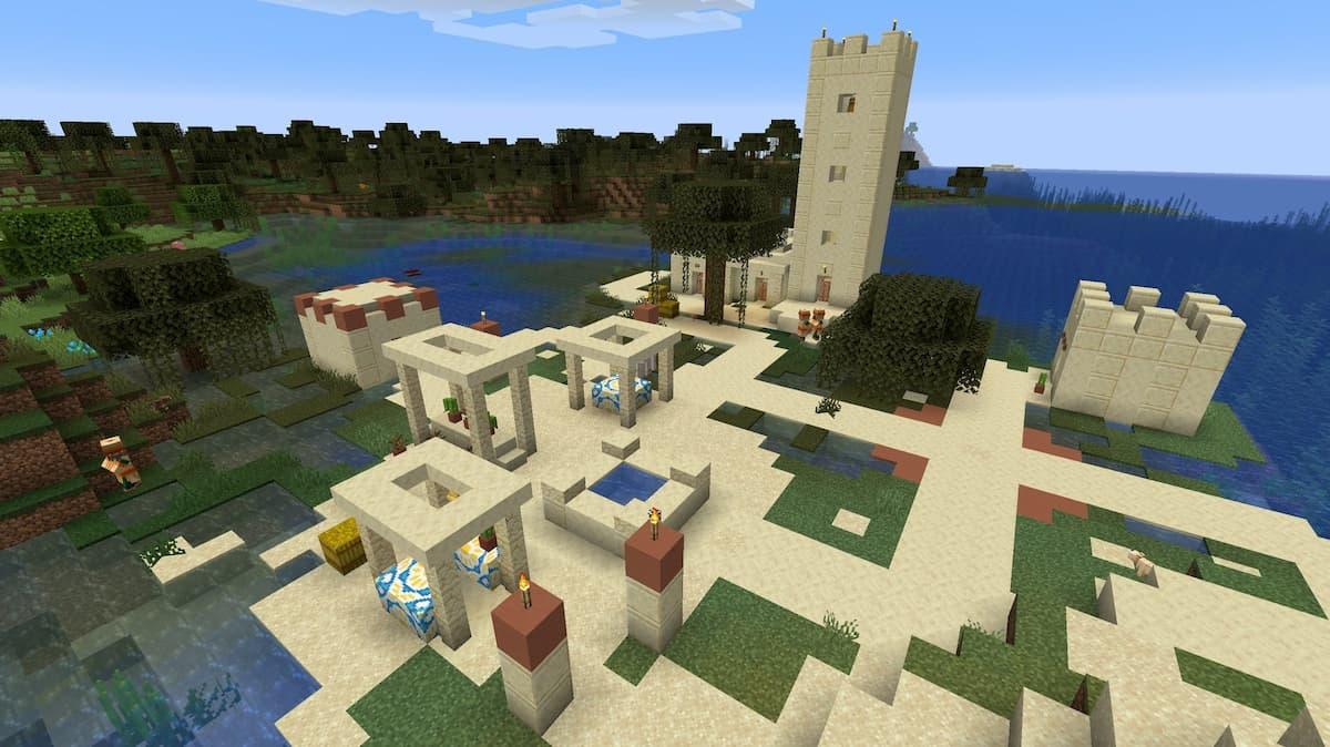 Seed Minecraft 1.15 village desert marais