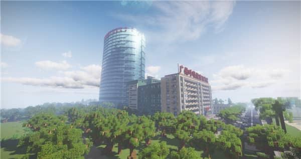 Hopital construit dans Minecraft de Wuhan