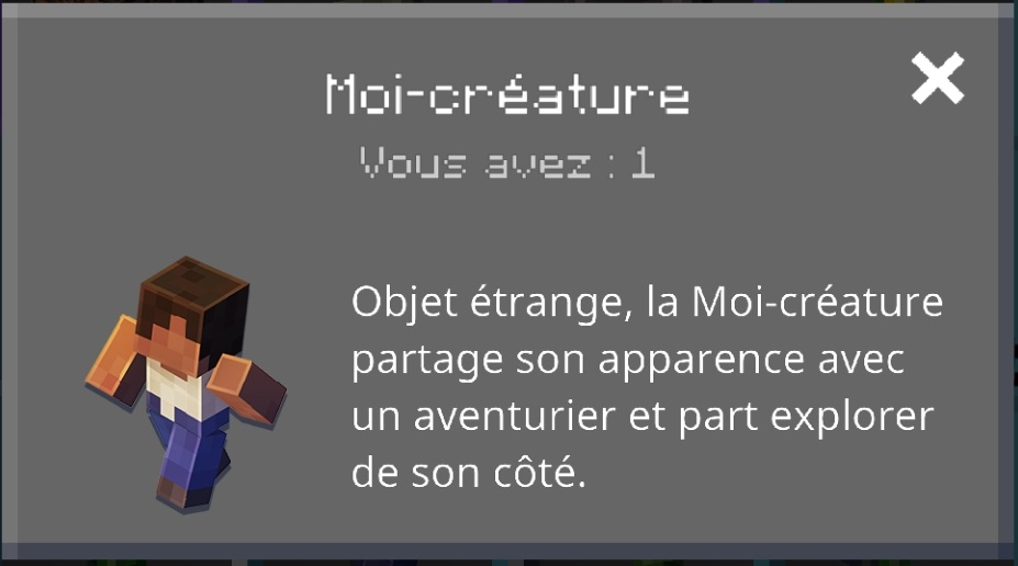 Minecraft earth patch Notes R12 : informations sur le moi-créature