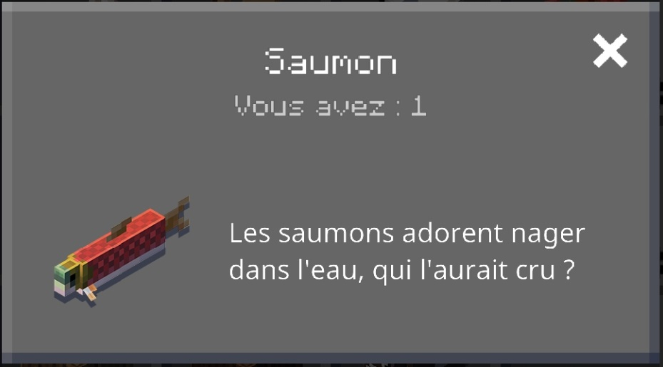 Minecraft earth patch Notes R12 : informations sur le saumon