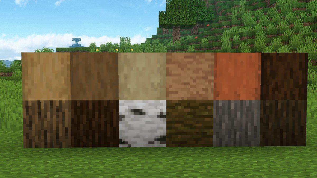 New Default + : Les grumes dépouillées correspondent désormais mieux à leurs couleurs de planches respectives et à leurs couleurs intérieures.