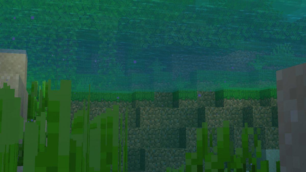 New Default + : effet flou sous l'eau
