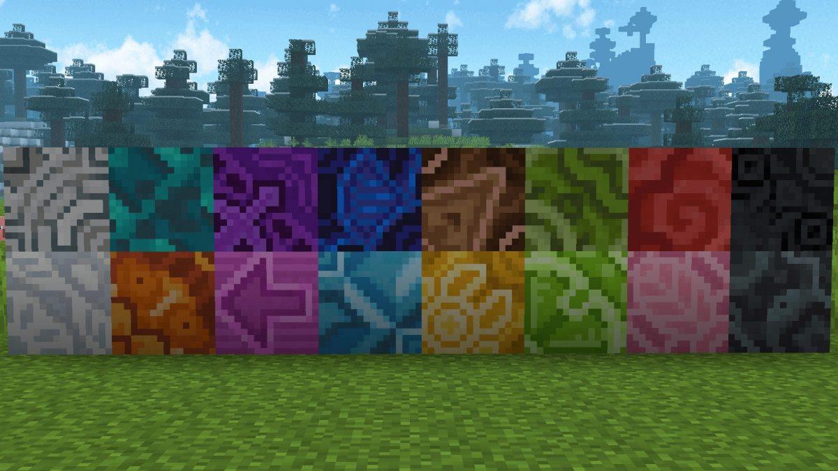 New Default + : La terre cuite émaillée a maintenant ses couleurs plus cohérentes et correspond définitivement à leurs couleurs de teinture respectives.