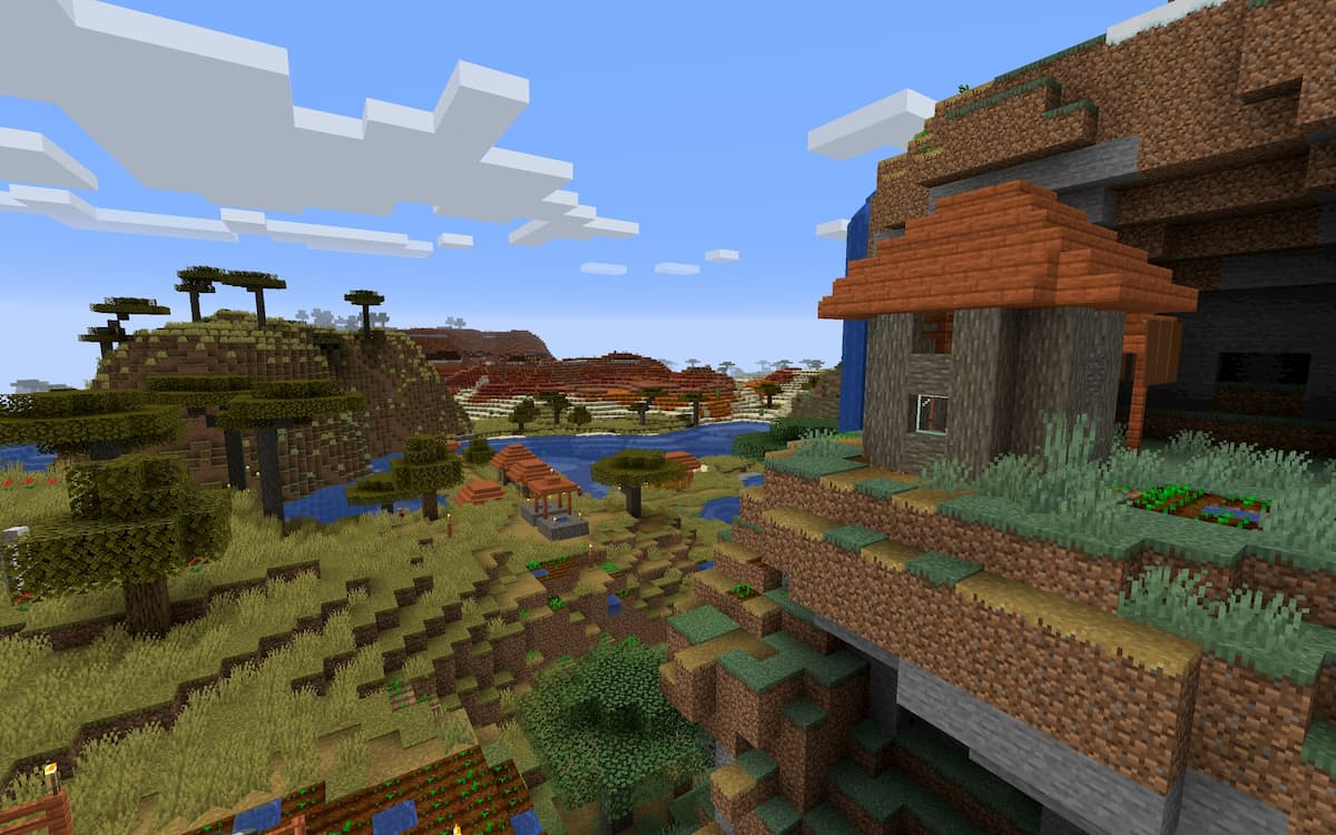 Seed Minecraft 1.15 biome badlands