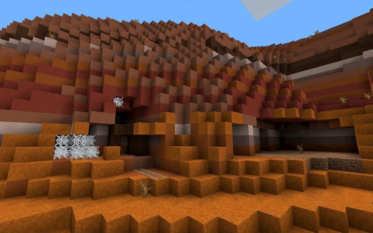 Seed Minecraft 1.15 caverne mesa