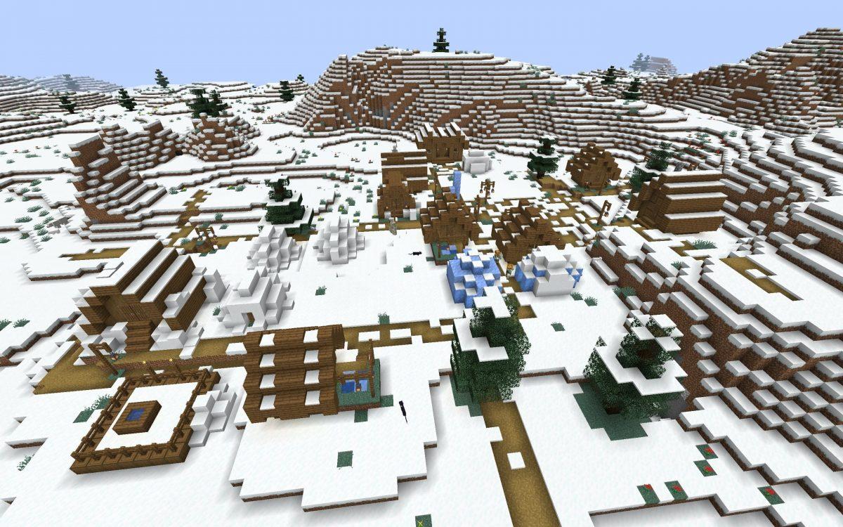 Seed Minecraft 1.15 village neige