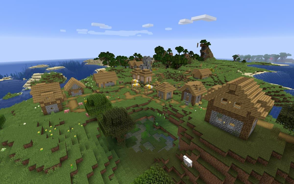 Seed Minecraft 1.15 village proche