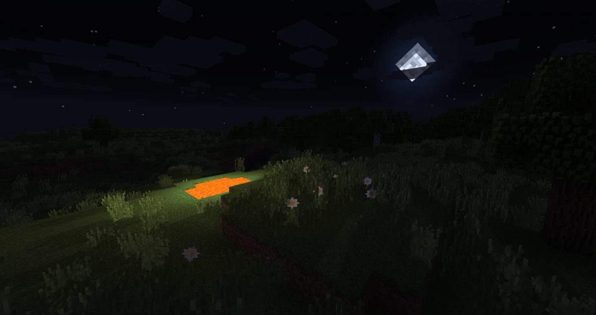 Sildur's Vibrant Shader Enhanced Default : La nuit avec la lune