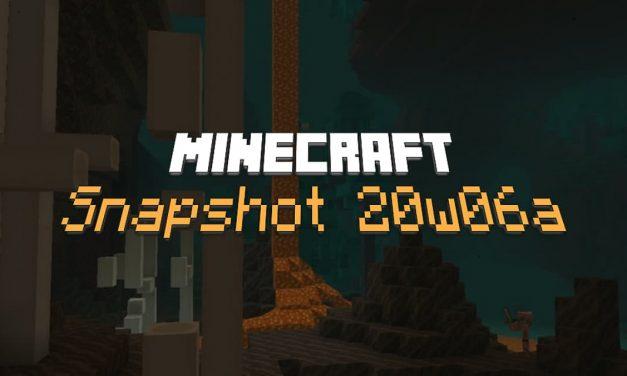 Snapshot 20w06a : Minecraft 1.16