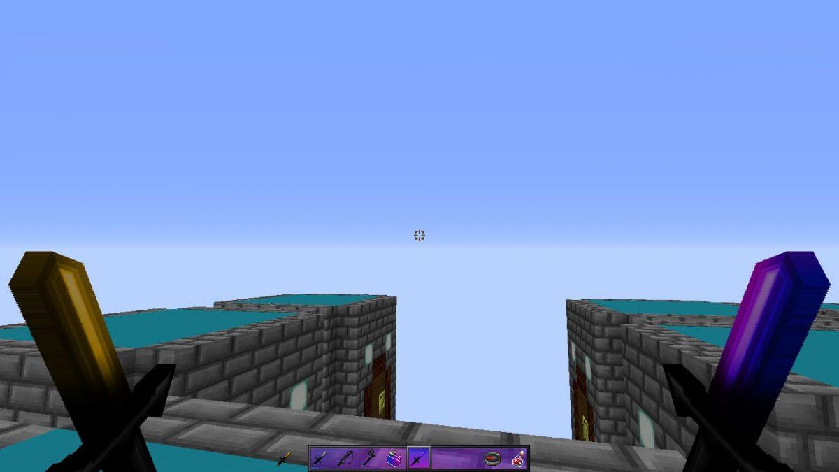Synthwave Pack de Texture Pvp Minecraft : deux épée courtes