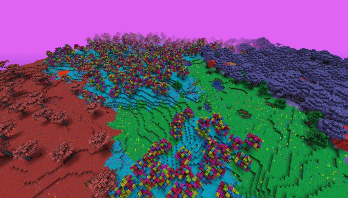 Terrapack3d Textures Minecraft X Terraria : différents biomes