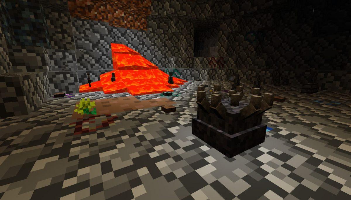 Terrapack3d Textures Minecraft X Terraria : de la lave dans un donjon