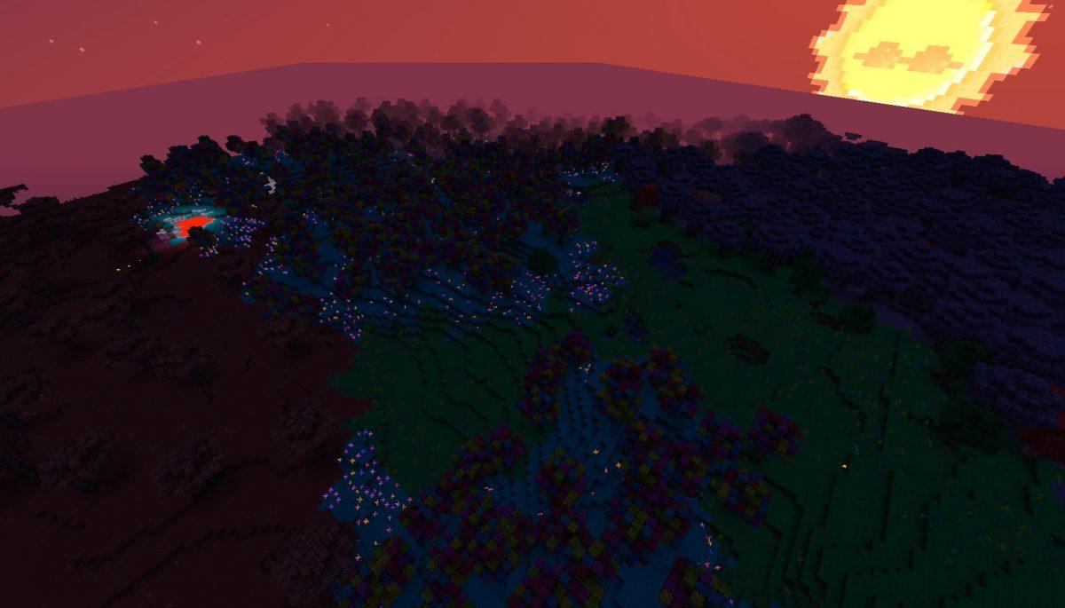 Terrapack3d Textures Minecraft X Terraria : la forêt la nuit