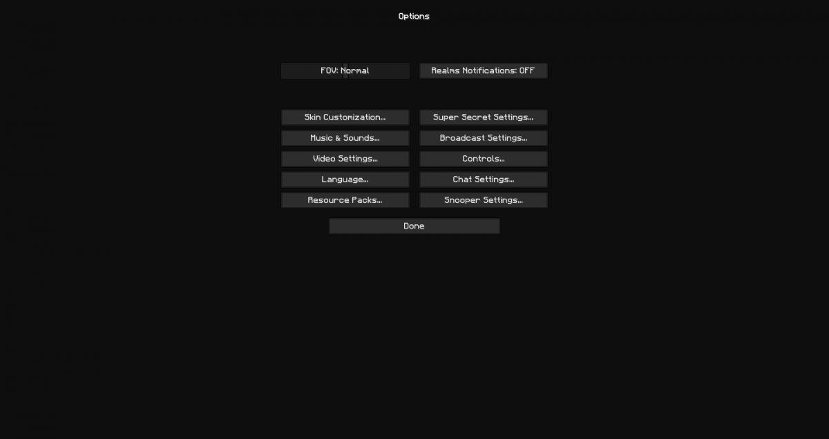 The F+ PvP : le menu