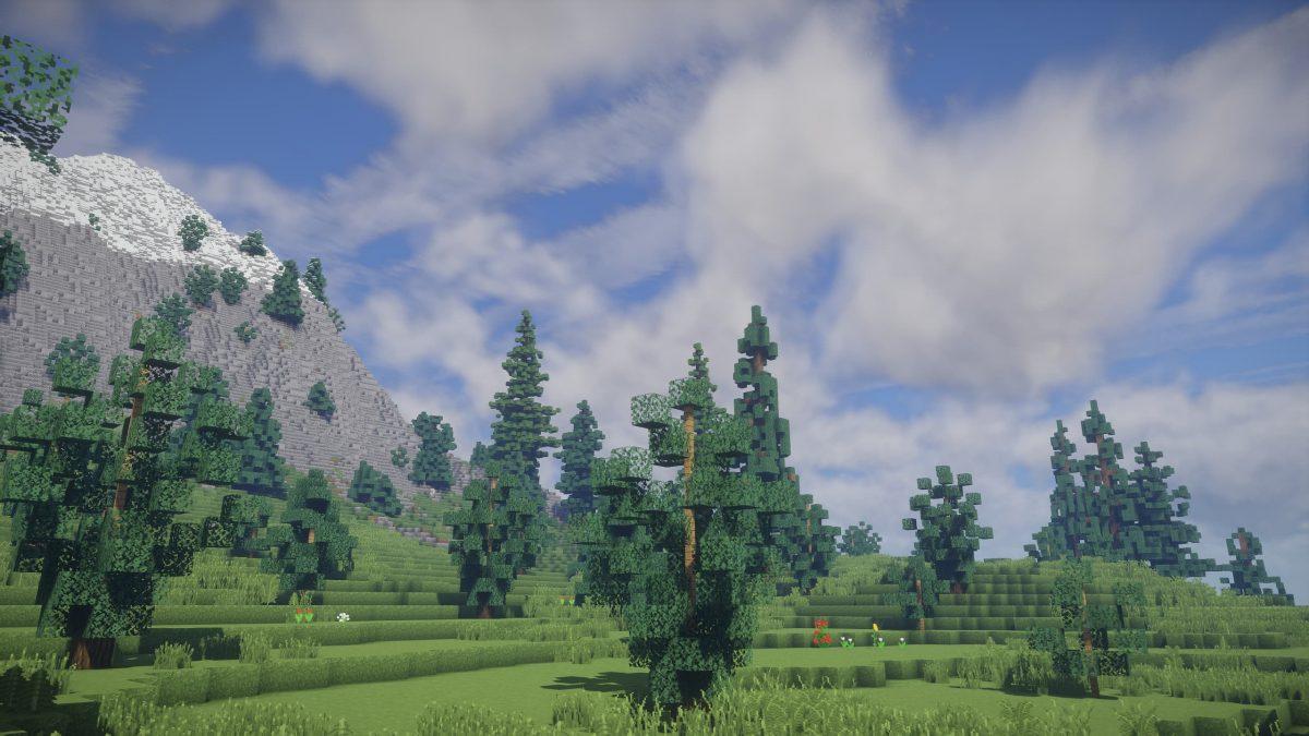 UShader : une belle vue sur la colline et le ciel