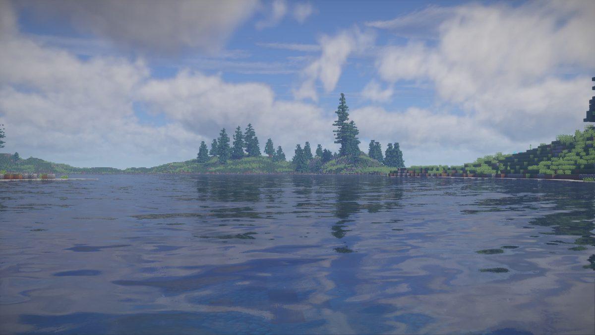 UShader : l'effet de l'eau sur un lac