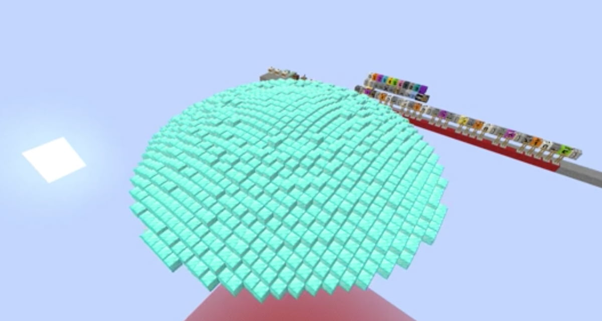 Une calculatrice graphique 3D en temps réel dans Minecraft