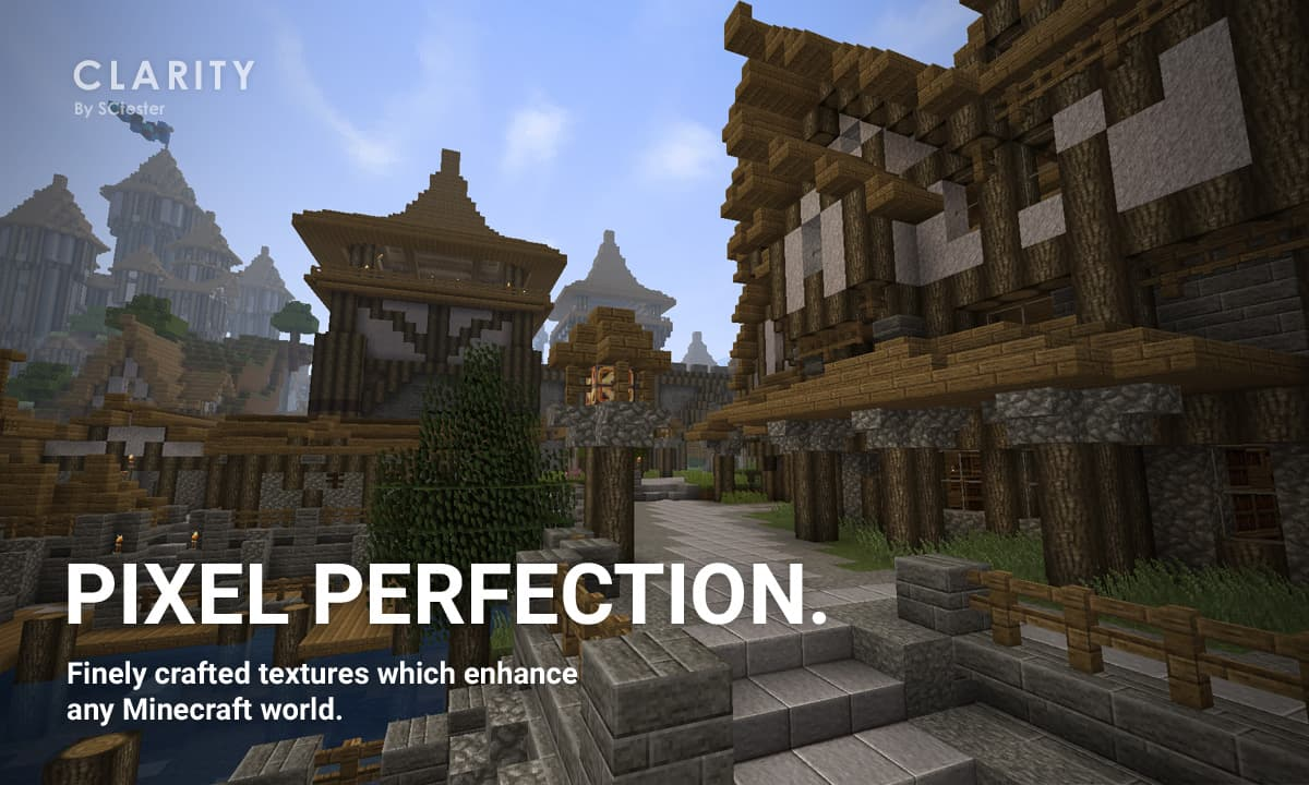 pack ressource minecraft clarity : pixel perfection