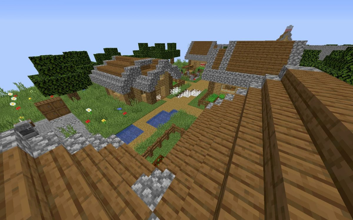 Creeper run map minecraft parkour : un village que vous traverserez