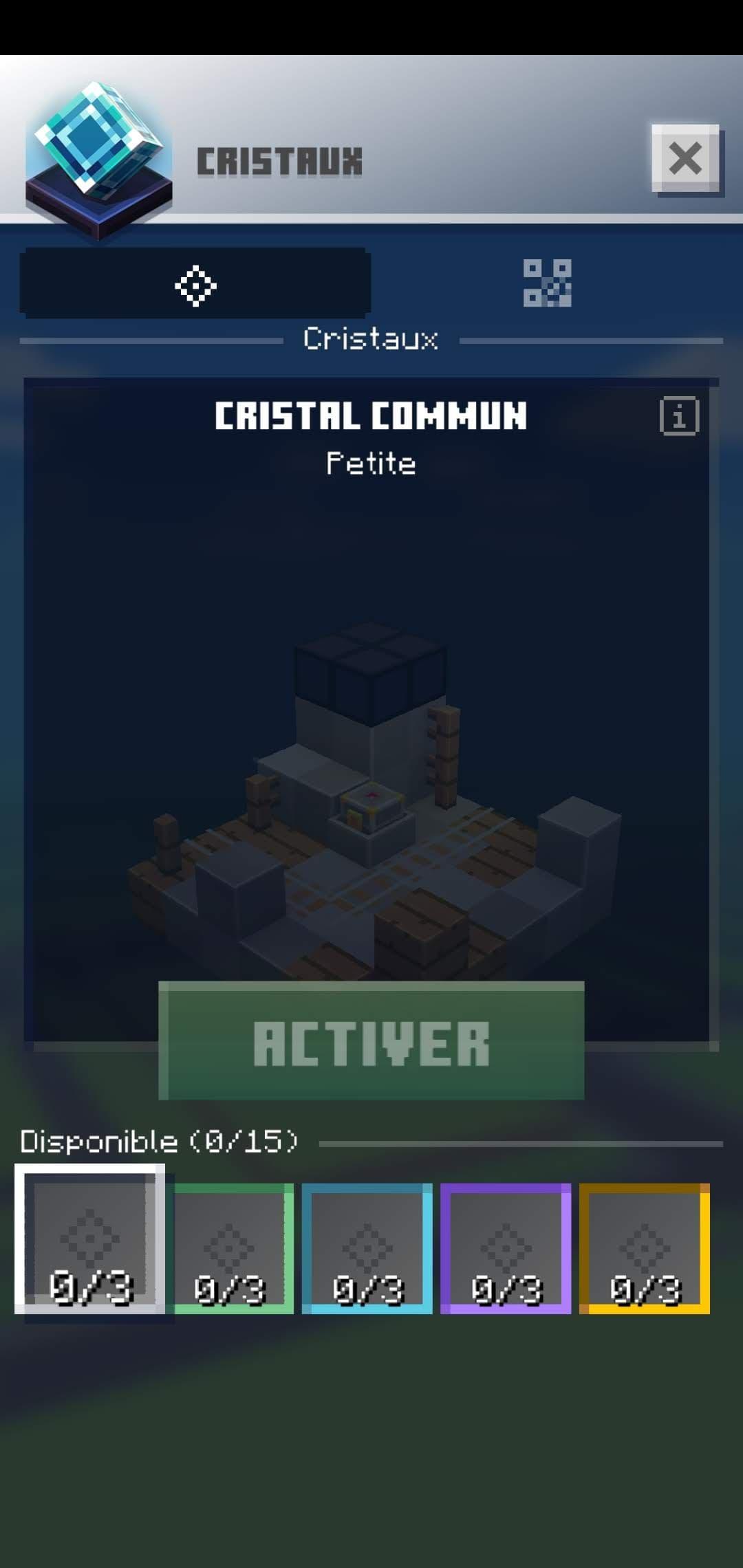 Les cristaux dans Minecraft Earth