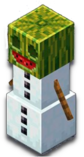Golem melon : créature minecraft earth