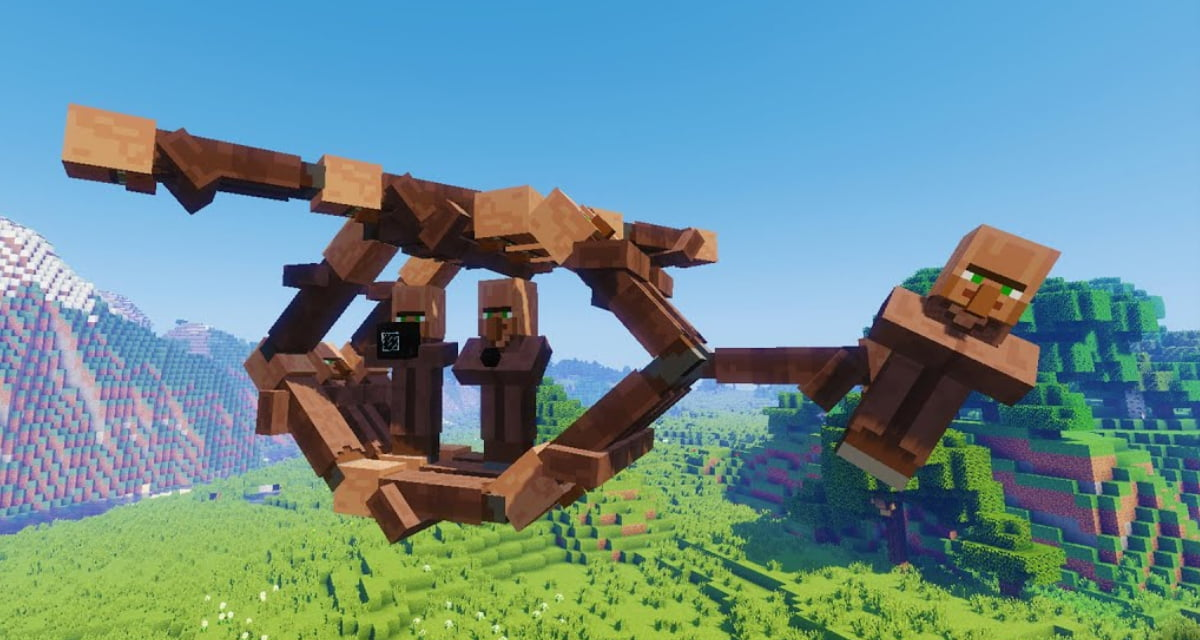 Hélicoptère de villageois Minecraft