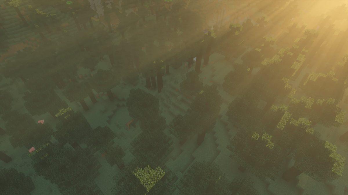 kappa shader : le soleil sur la cime des arbres