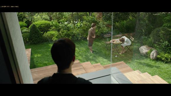 Map Minecraft film Parasite comparaison : jardin Park IRL