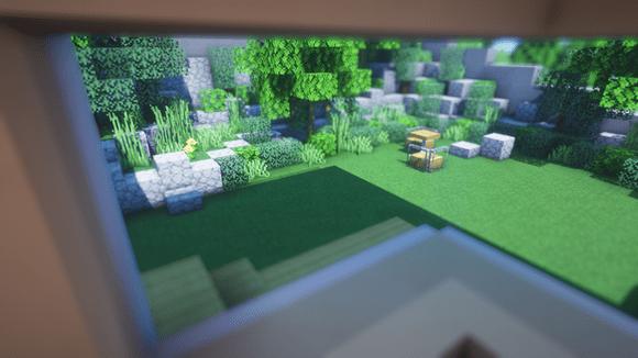 Map Minecraft film Parasite comparaison : jardin Park Minecraft