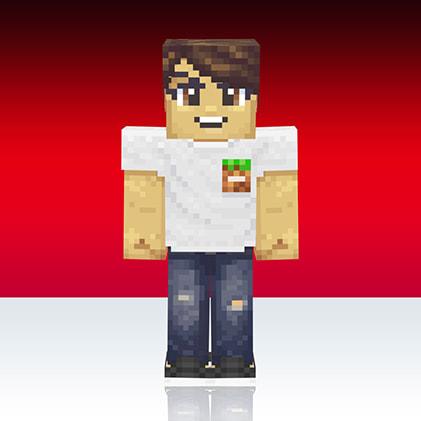 Skin Minecaft Uniqlo : logo cube