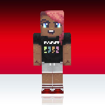 Skin Minecaft Uniqlo : noir