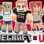 Collaboration Minecraft X Uniqlo : Skins Gratuits