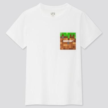 Tshirt Minecraft Uniqlo : logo cube