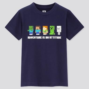 Tshirt Minecraft Uniqlo : personnages