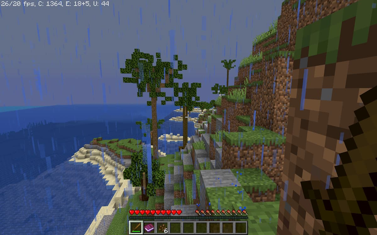 Realism Survival Island : près des plages on trouve des arbres originaux