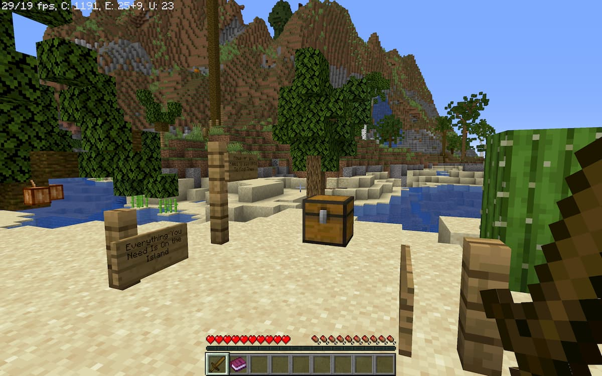 Realism Survival Island : la point de spawn