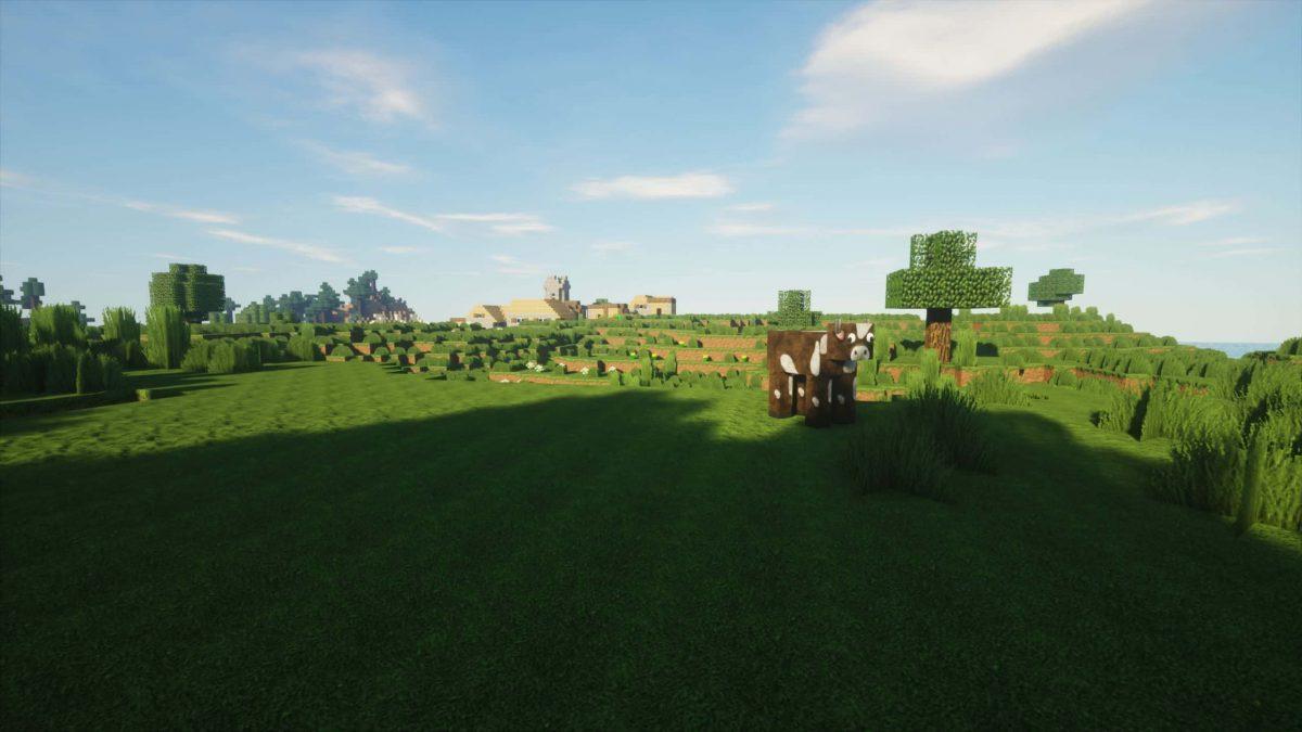 Seus Shader : une vache dans une plaine