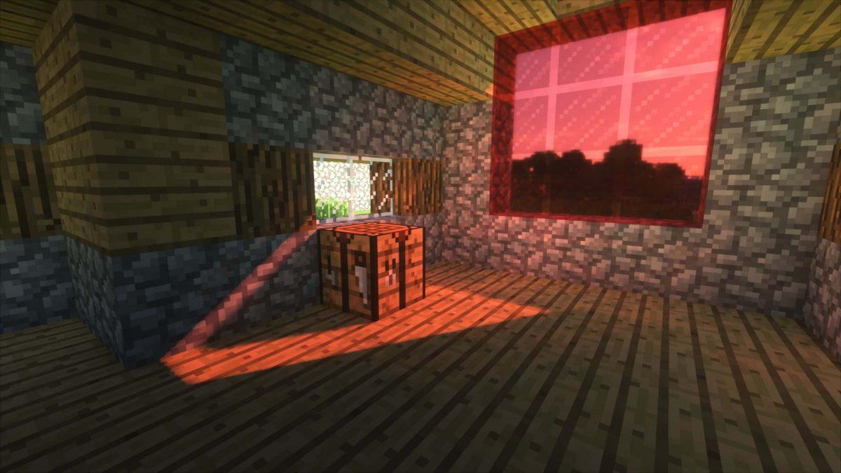Seus Shader : le reflet du soleil à travers une vitre